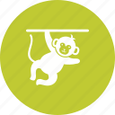 animal, circus, face, fun, monkey, show icon