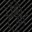 snowman, winter, christmas, xmas