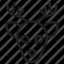 deer, moose, reindeer, christmas