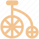 antique bicycle, bicycle, big bicycle, old fashioned bicycle, penny farthing icon