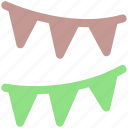 decoration, decors, party streamers, streamers, streamers and confetti, streamers banners icon