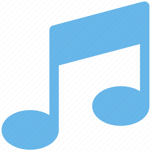double bar note, music note, music sign, musical note, musical sign icon