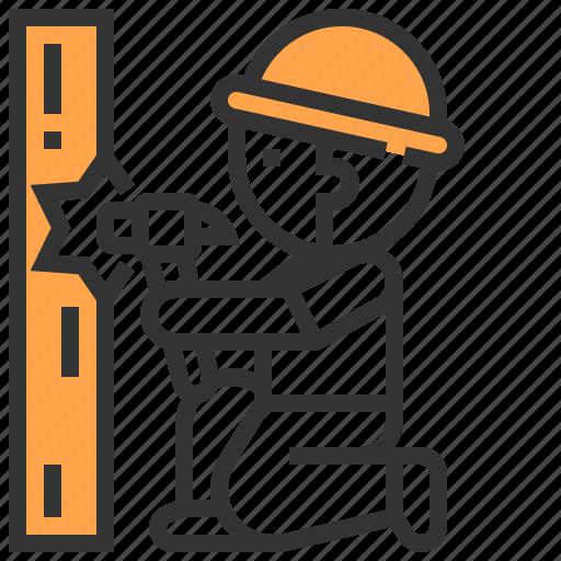 carpenter, hammer, labour, man, worker icon