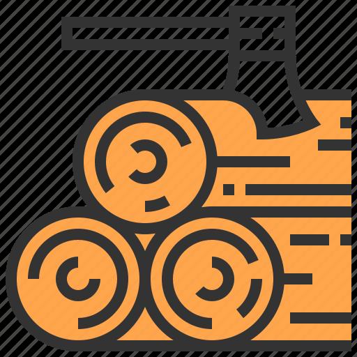 axe, carpenter, tool, wood icon