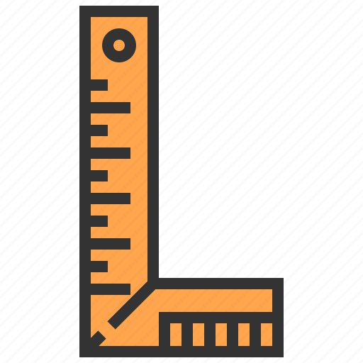 carpenter, ruler, tool icon