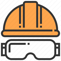carpenter, hat, safety, tool icon