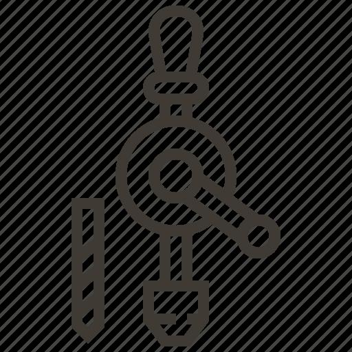 carpenter, drill, tool icon
