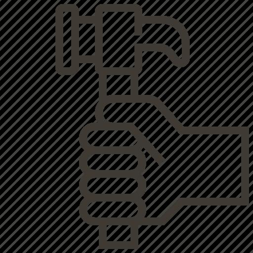 carpenter, hammer, tool icon