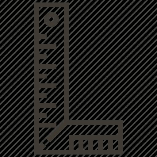 carpenter, ruler, tool icon