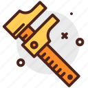 caliper, construction, crafting, industry, skill icon