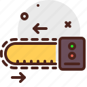 chain, construction, crafting, industry, saw, skill icon
