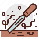 chisel, construction, crafting, industry, skill icon