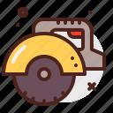 circular, construction, crafting, industry, saw, skill icon