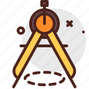 compass, construction, crafting, industry, skill icon