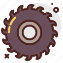 construction, crafting, disk, industry, skill icon
