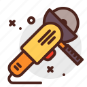 construction, crafting, electric, industry, saw, skill icon