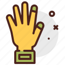 construction, crafting, glove, industry, skill icon