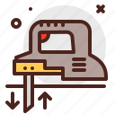 construction, crafting, industry, jig, saw, skill icon
