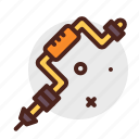 construction, crafting, industry, manual, press, skill icon
