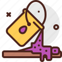 construction, crafting, industry, paint, skill icon