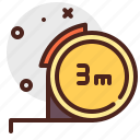 construction, crafting, industry, ruller, skill icon