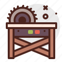 construction, crafting, industry, saw, skill, table icon