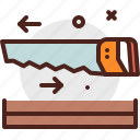 construction, crafting, industry, saw, skill, wood icon