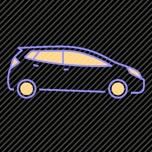 car, drive, family, hatchback, icon, otomotive, road, transportation icon
