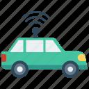 car, signal, unlock, vehicle, wifi icon