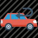 automobile, back, car, transport, vehicle icon