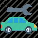 car, fix, repair, setting, wrench