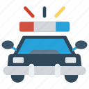 automobile, car, police, security, vehicle icon