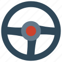 car, control, service, steering, wheel icon