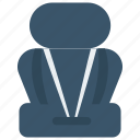 chair, protection, seat, seatbelt, vehicle icon