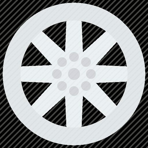 car, gear, rim, vehicle, wheel icon