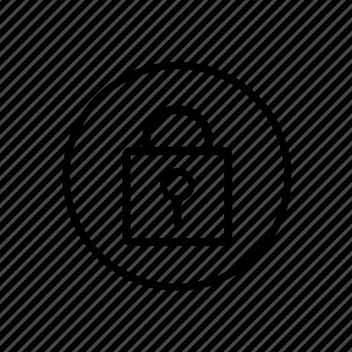 central, lock, locking icon