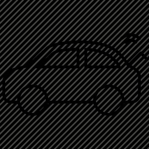 open boot, remote, remote trunk, trunk icon