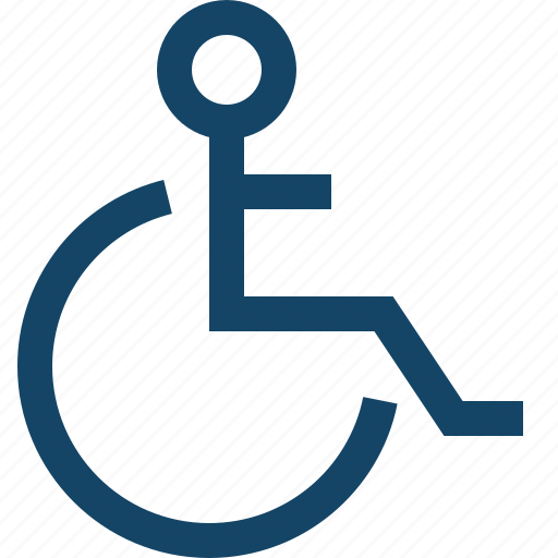 disable, disabled, handicap, invalid, wheelchair icon