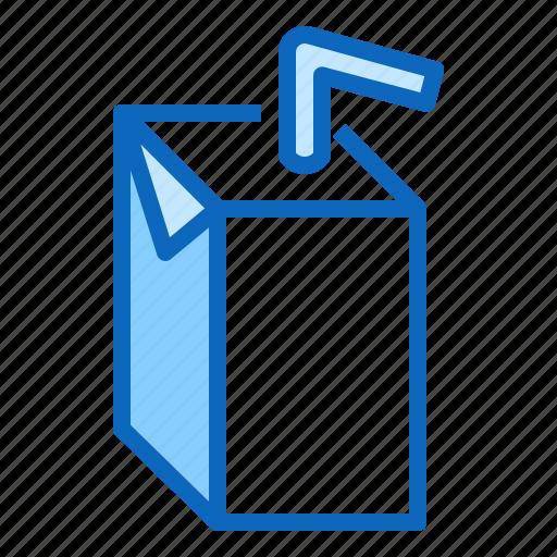 box, cardboard, carton, juice, milk, pack icon
