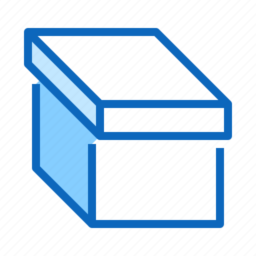 box, cardboard, carton, lid, pack icon