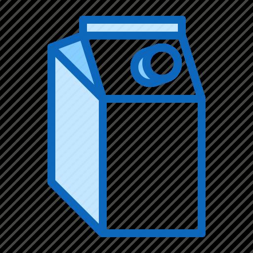 box, cardboard, juice, milk, pack, package icon