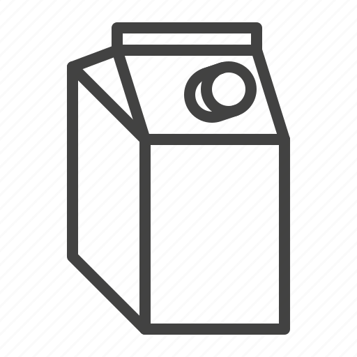 Box, cardboard, juice, milk, pack, package icon - Download on Iconfinder