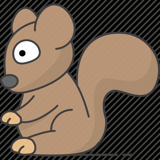 animal, animals, squirrel, tree icon