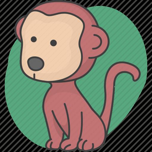 animal, animals, monkey icon
