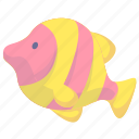 animal, cartoon animal, cartoon fish, fish icon