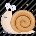 cartoon snail, slow, slug, snail, yumminky icon