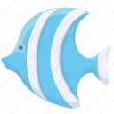 cartoon fish, fish, marine icon
