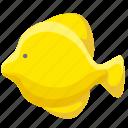 cartoon fish, fish, sea icon