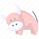 animal, cartoon animal, cartoon cow, cow icon