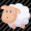 cartoon sheep, lamb, sheep icon